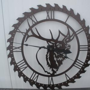 This clock was made for the silent auction at the Rocky Mountain Elk Foundation annual banquet.
